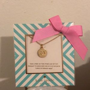 KATE SPADE ♠️ Initial Necklace